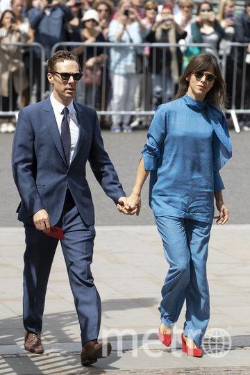 Камбербэтч с супругой. Фото Getty