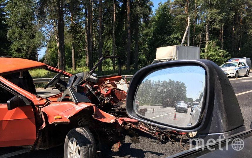 Фото с места ДТП с ВАЗ 2109. Фото vk.com