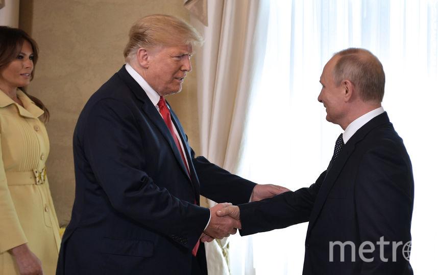 Владимир Путин, Дональд и Мелания Трамп. Фото Getty