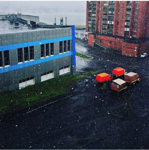 В Норильске выпал снег. Фото Instagram/kyzbmu4_1993