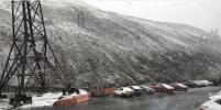 Холодный ветер с дождём усилился стократно... В Норильске выпал снег