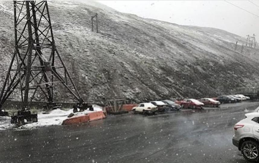 В Норильске выпал снег. Фото Instagram/norilsknow