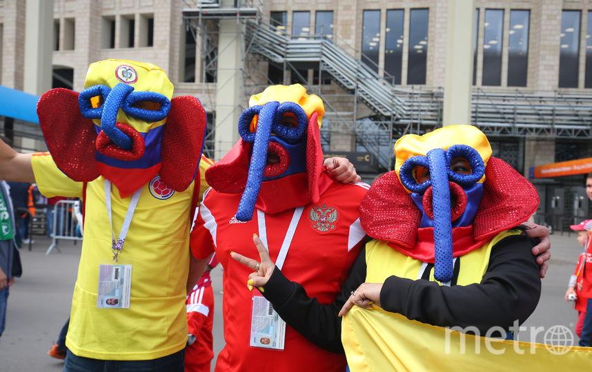 Футбольные болельщики в Москве. Фото Василий Кузьмичёнок