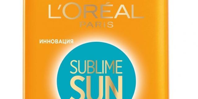12. Молочко для тела L'Oreal Paris Sublime Sun SPF15.