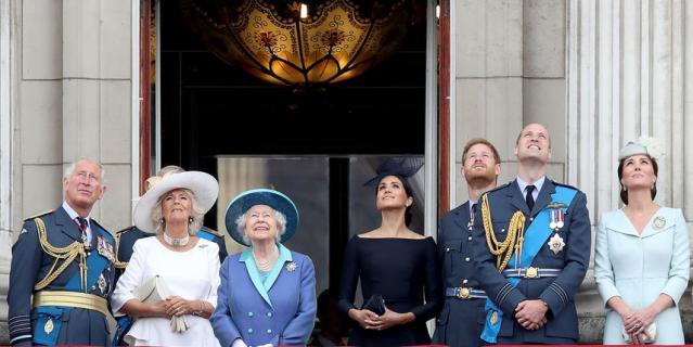 Елизавета II и Меган Маркл.