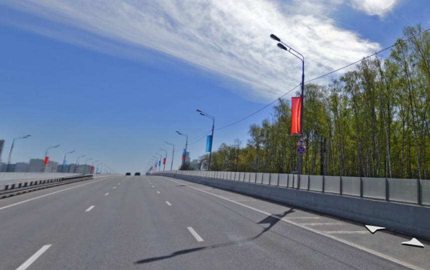 В Москве отремонтируют Рублевское шоссе. Фото Скриншот Яндекс. Карты.
