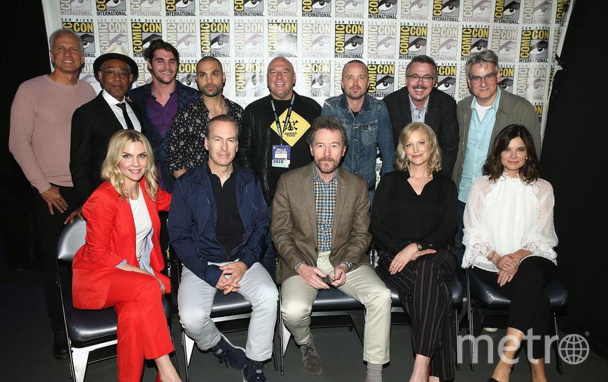"Актеры сериала ""Во все тяжкие"" на Comic-Con 2018 в Сан Диего. Фото Getty"