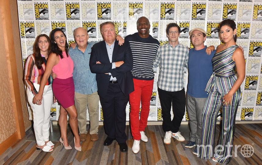 "Актеры сериала ""Бруклин 9-9"" на Comic-Con 2018 в Сан Диего. Фото Getty"