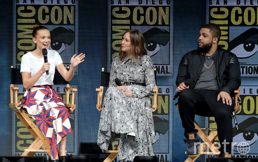 "Милли Бобби-Браун и другие актеры фильма ""Годзилла"" на Comic-Con 2018 в Сан Диего. Фото Getty"