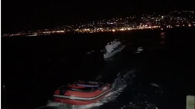 Гребцы пересекают Чёрное море. Фото Скриншот видео: https://vk.com/video-110511200_456239216