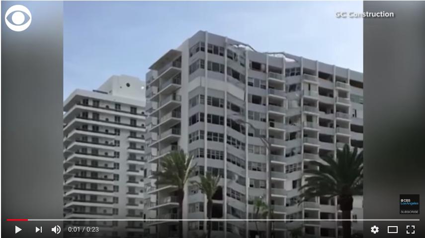 Фрагмент видео подрыва дома в Майами. Фото Скриншот Youtube