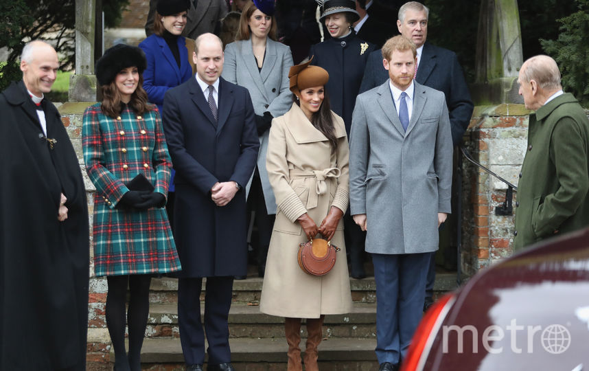Кейт Миддлтон, принц Уильям, Меган Маркл и принц Гарри. Фото Getty