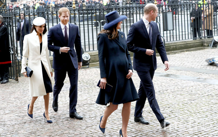 Меган Маркл, принц Гарри, принц Уильям и Кейт Миддлтон. Фото Getty