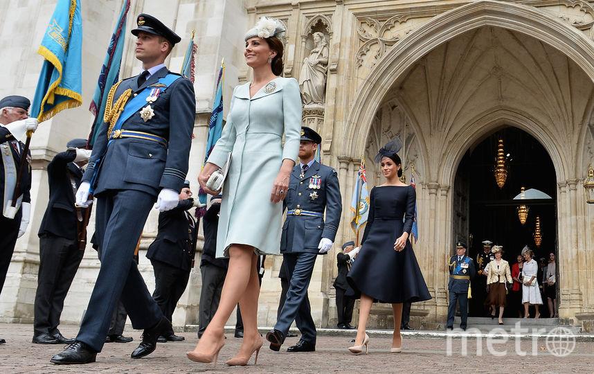 Принц Уильям, Кейт Миддлтон, принц Гарри и Меган Маркл. Фото Getty