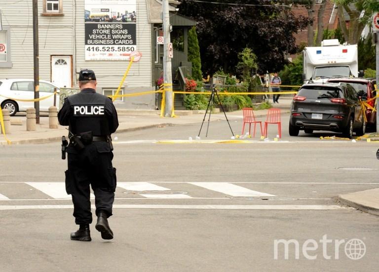 Место, где произошла стрельба в Торонто. Фото AFP