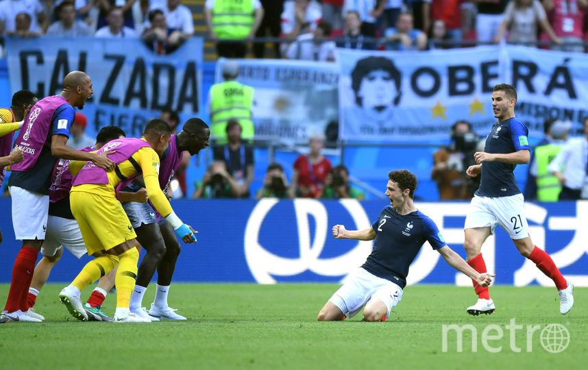Гол француза Бенжамена Павара в ворота сборной Аргентины признан лучшим на чемпионате мира 2018 года. Фото Getty