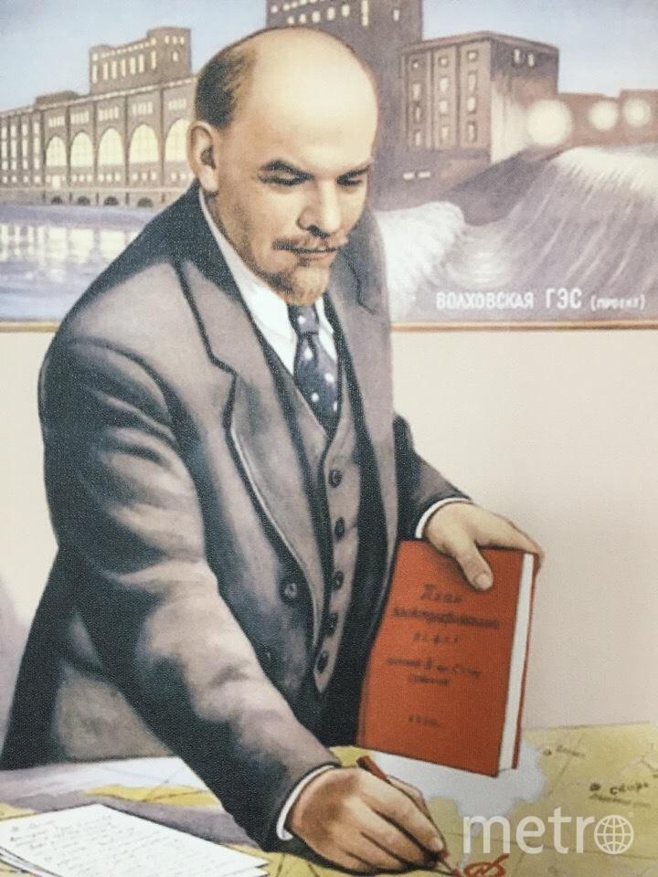 """Картина """"Ленин утверждает план Волховской ГЭС"""". Фото Карина Тепанян, """"Metro"""""""