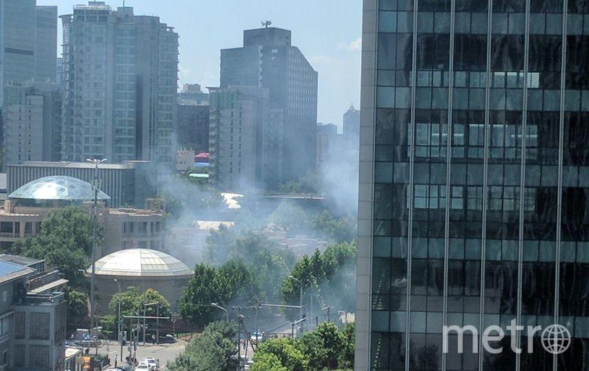 Фото с места ЧП в Пекине. Фото соцсети