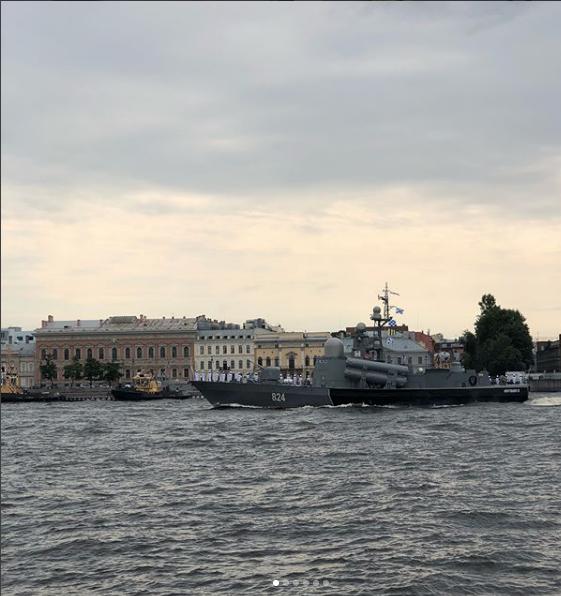 Фото генрепетиции парада к Дню ВМФ в Петербурге. Фото https://www.instagram.com/terransergeich/