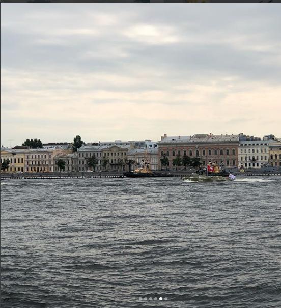 Фото репетиции парада к Дню ВМФ в Петербурге. Фото https://www.instagram.com/terransergeich/