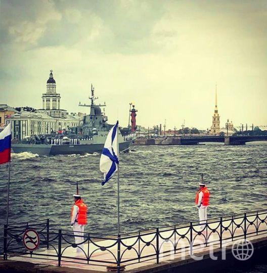 Фото генрепетиции парада к Дню ВМФ в Петербурге. Фото https://www.instagram.com/kibitov/