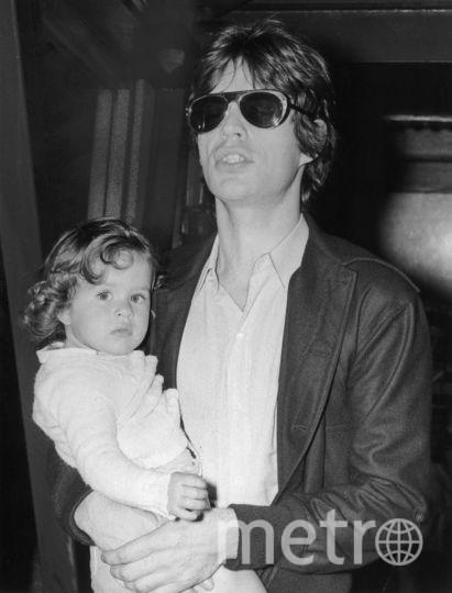 Мик Джаггер с дочерью. Фото Getty