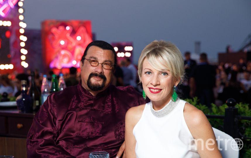 Мария Захарова и Стивен Сигал. Фото Предоставлено организаторами