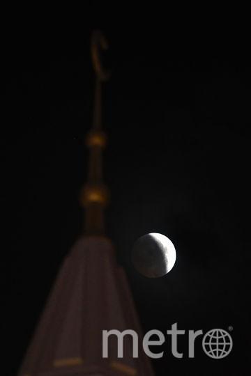 Лунное затмение 27 июля 2018 года. Фото AFP