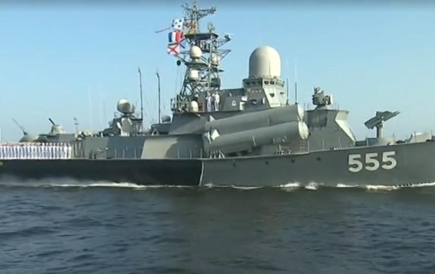 В Петербурге отмечают день ВМФ. Фото скриншот www.5-tv.ru/news
