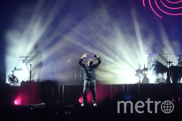 Выступление группы Gorillaz в Москве было прервано из-за сильного дождя. Фото РИА Новости