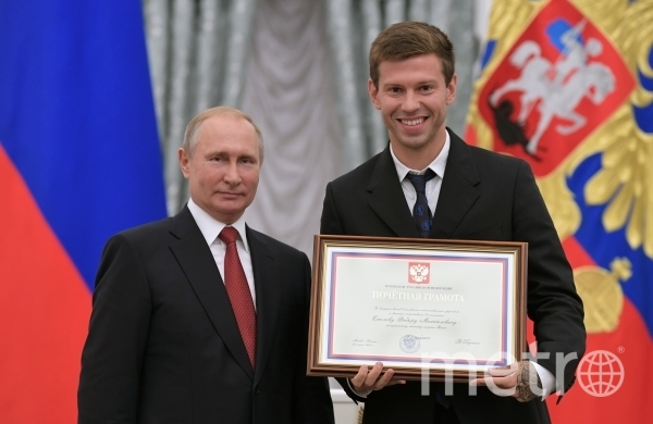 Владимир Путин с Федором Смоловым. Фото РИА Новости