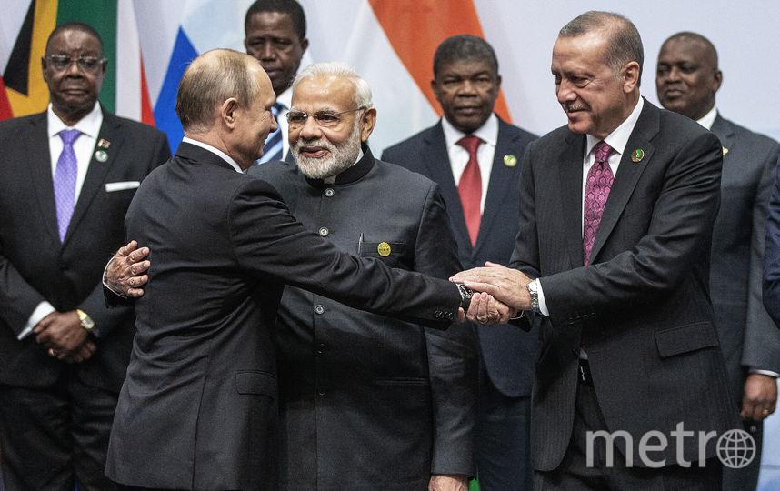 Эрдоган посетил БРИКС и хочет, чтобы Турция вошла в эту группу. Фото AFP