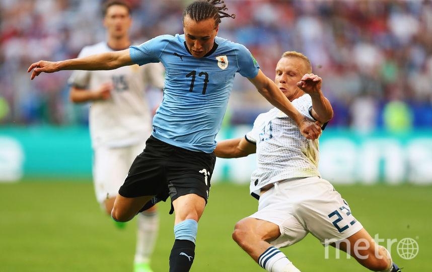 Уругваец Диего Лаксальт в матче со сборной России. Фото Getty