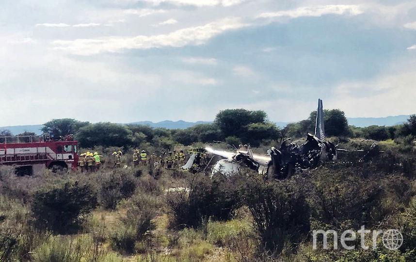 В Мексике упал самолёт. Фото AFP