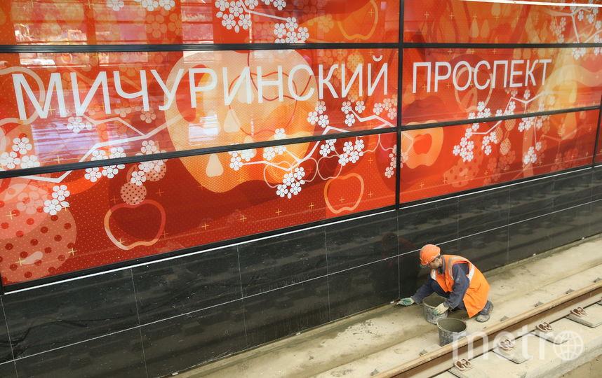 """Работы на станции """"Мичуринский проспект"""". Фото Василий Кузьмичёнок"""