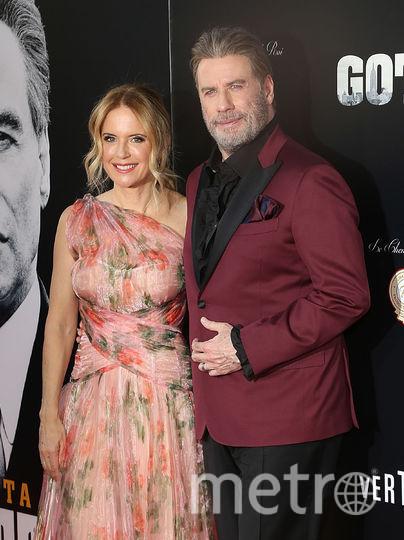 """Джон Траволта с женой Келли Престон на премьере фильма """"Кодекс Готти"""" в Нью-Йорке. Фото Getty"""