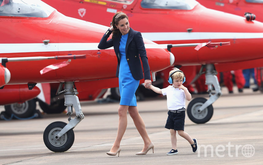 Принц Джордж с мамой герцогиней Кейт Миддлтон. Фото Getty