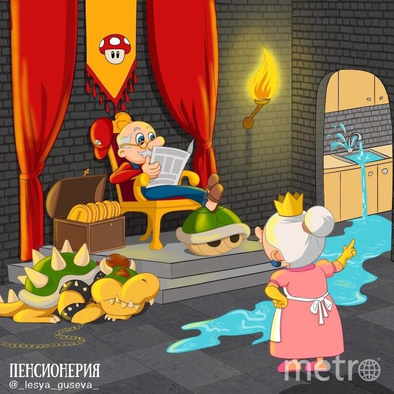 """Иллюстратор из Перми """"состарил"""" супергероев комиксов и мультфильмов. Фото Instagram.com/_lesya_guseva_/"""