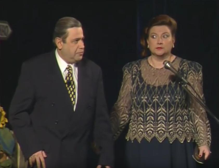 Евгений Петросян и Елена Степаненко. Фото Скриншот Youtube