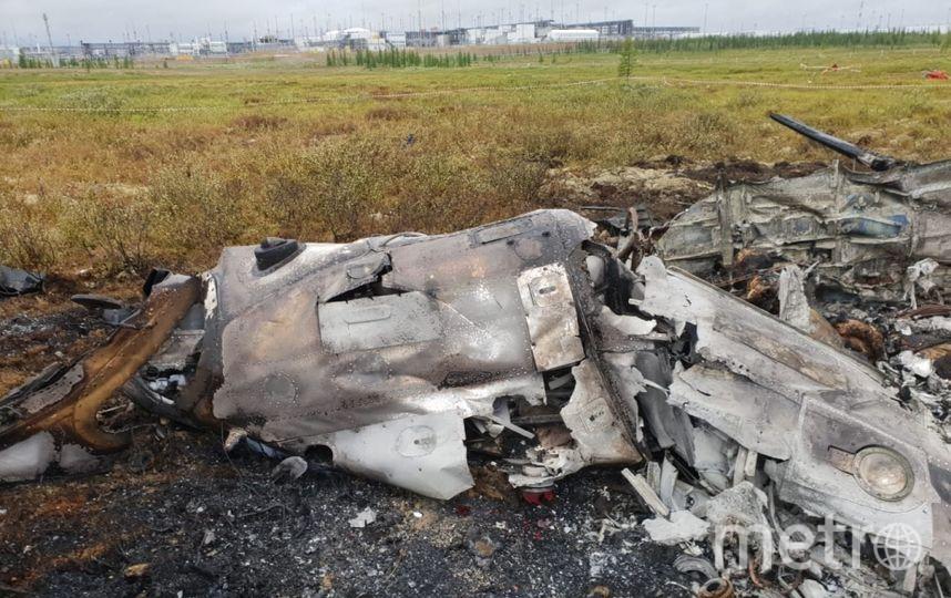Фото с места крушения Ми-8. Фото СК РФ