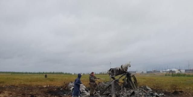 Фото с места крушения Ми-8.