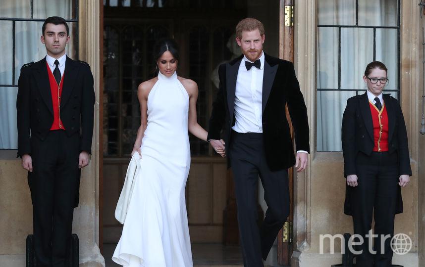 Меган Маркл и принц Гарри посетили свадьбу друга через три месяца после своей. Фото AFP