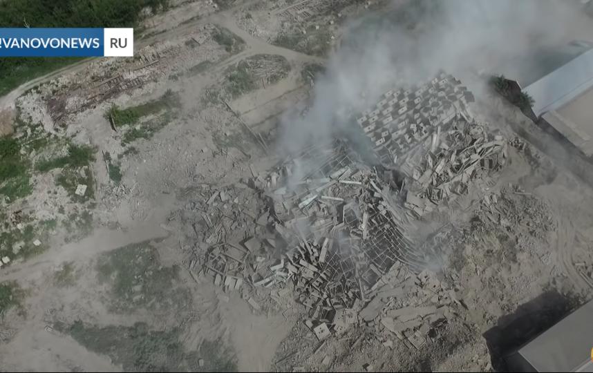 В Иваново взорвали мукомольный комбинат. Фото Скриншот видео YouTube., Скриншот Youtube