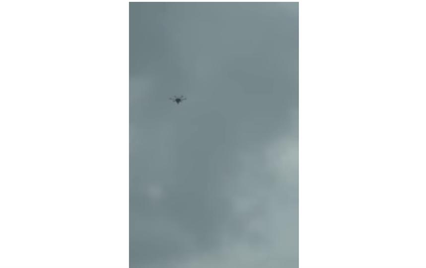 Дрон и взрыв. Фото Скриншот Youtube