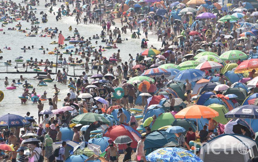 В Интернете множатся фото, сделанные на пляжах китайского Даляня. Фото Getty