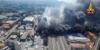 Мощные взрывы прогремели у аэропорта Болоньи в Италии. Видео