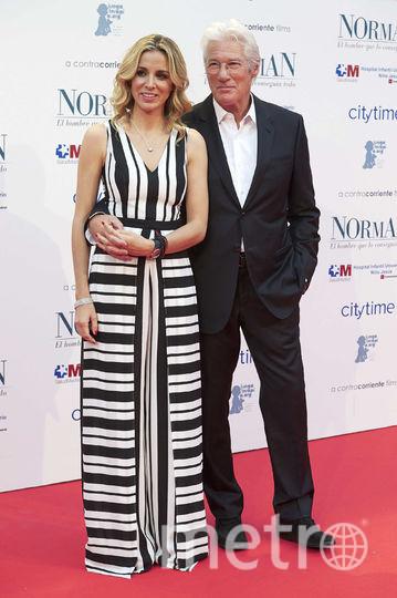 Ричард Гир и его супруга Алехандра Силва. Фото Getty