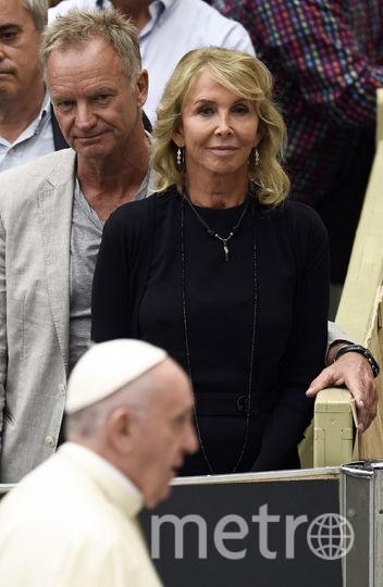 Стинг с женой встретились с папой римским в Ватикане. Фото AFP