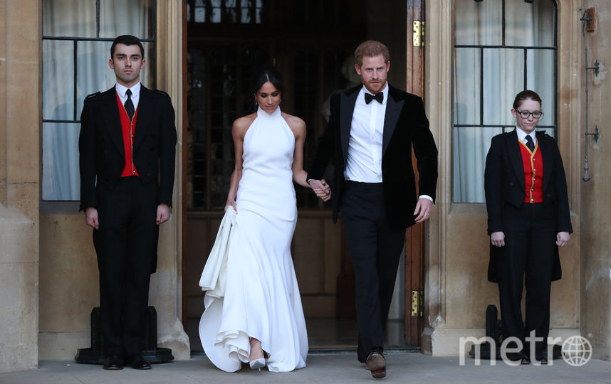 Меган Маркл в платье от Стеллы Маккартни на своей свадьбе с принцем Гарри. Фото Getty