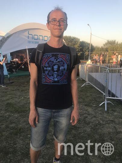 Посетители Geek Picnic рассказали о своих футболках. На фото: Игорь Бутенко. Фото Мария Беленькая.